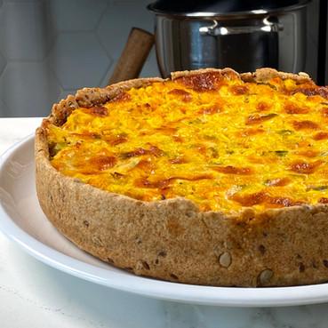 Tarta de Calabaza y Choclo con Masa Integral con Semillas