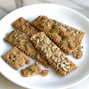 Crackers con Semillas - Galletas Crocantes con Semillas