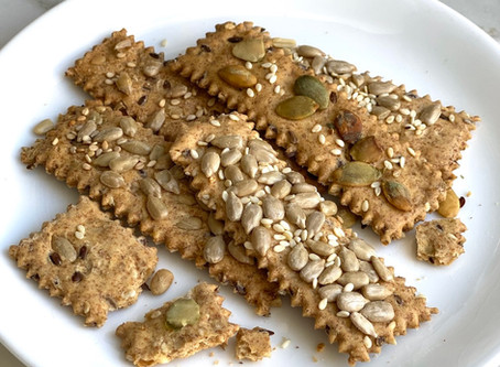 Crackers con Semillas - Galletas Crocantes con Semillas