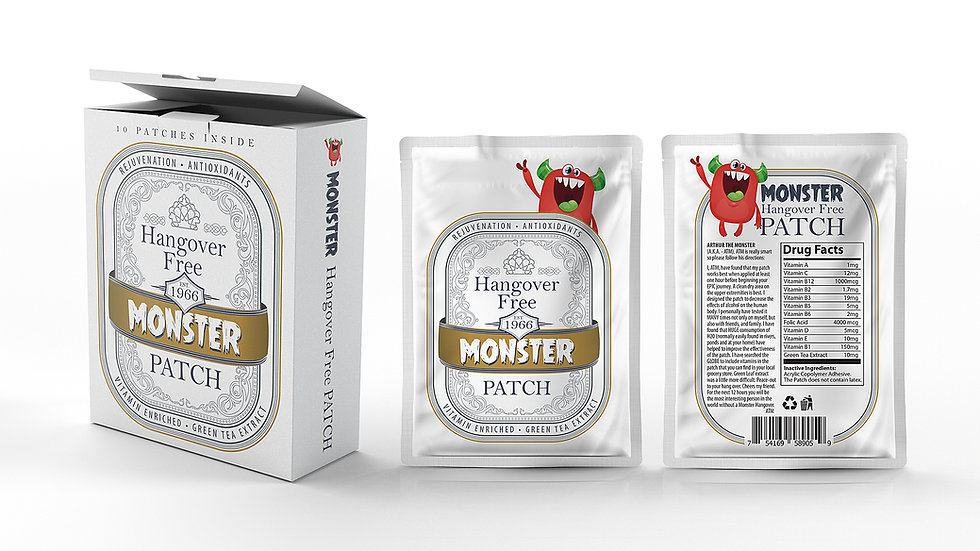 Monster Hangover Patch (MEGA supply-30) with carry box