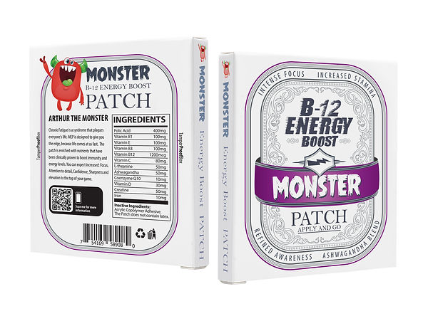 Monster PATCH 3D  ENERGY front and back.