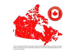 Current Canada Provinces we Service
