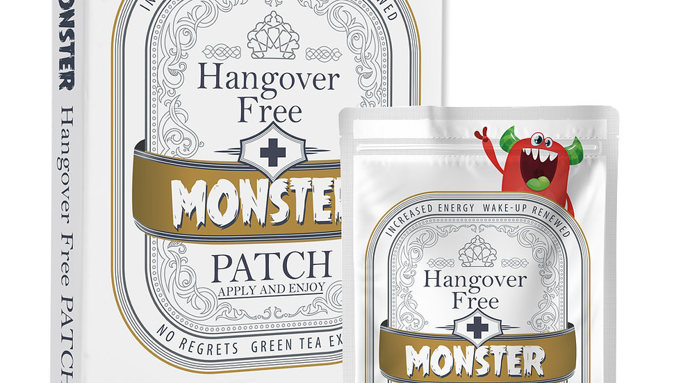 NO-Monster Hangover (10 Patches per convenient carry box)