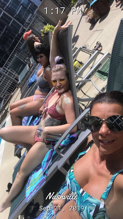 Girls hanging at the pool.jpg