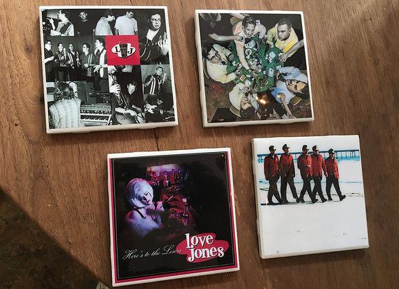 Set of Four Love Jones Ceramic Drink Coasters