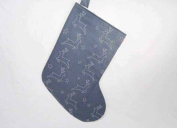 Large Grey Night Flight Christmas Stocking