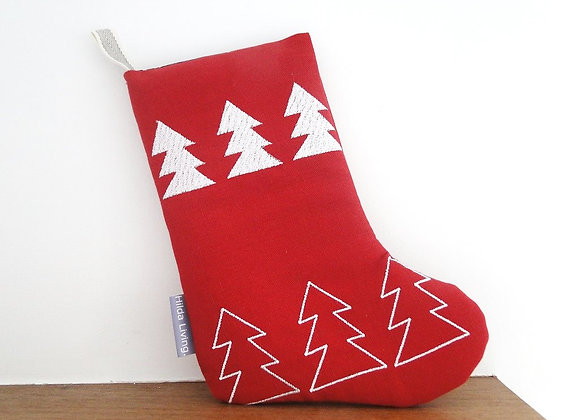 Small Red Tree Parade Christmas Stocking