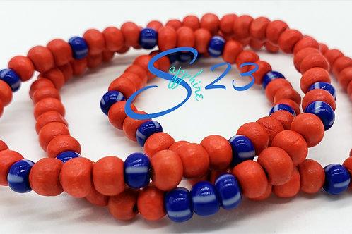 Inspired Africa: Red & Blue bracelet