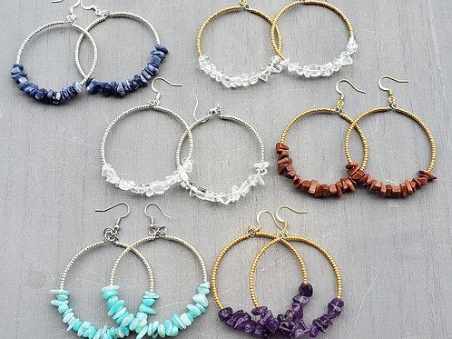 Gemstone Hoops