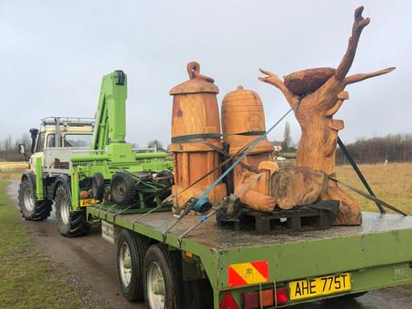 Wood Sculpture Installs