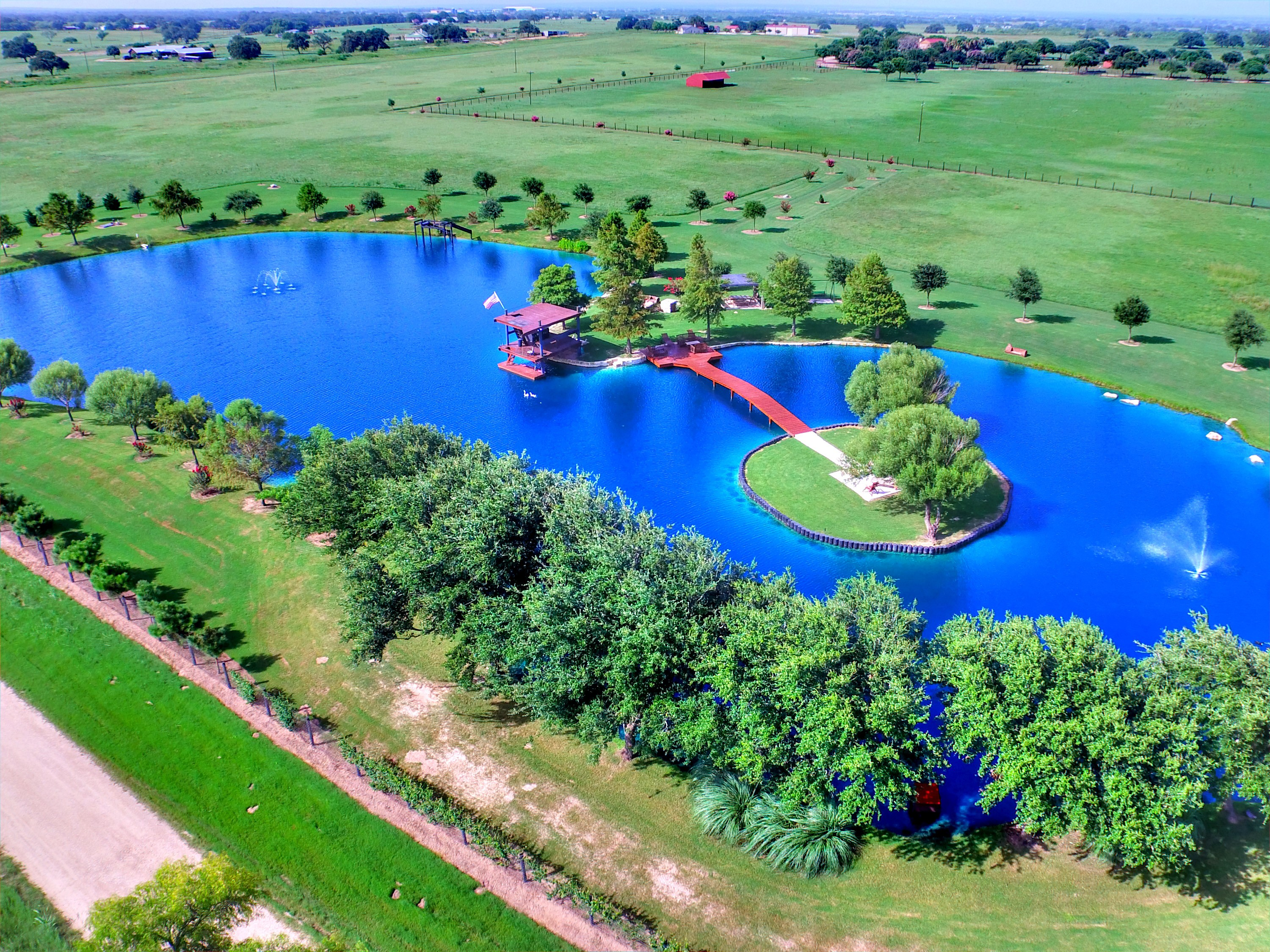 Aerial Front Pond