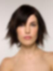 Modelo de pelo corto