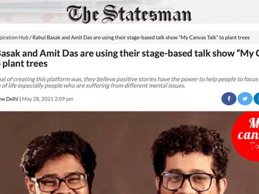 Rahul Basak Featured on The Statesman