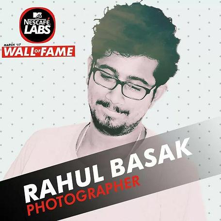 Rahul Basak MTV Nescafe Wall of frame