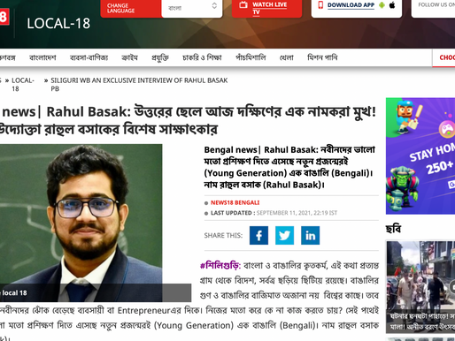 Featured on NEWS 18 Bengali