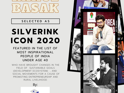 """Rahul Basak featured as """" India's most inspirational under 40"""" by Silverink Foundation."""