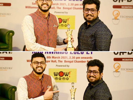 My Canvas Talk won the best startup award from The Bengal Chamber of Commerce and Industry