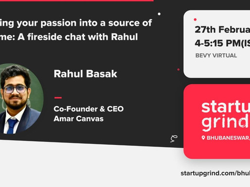 Speaker at  Startup Grind Bhubaneswar