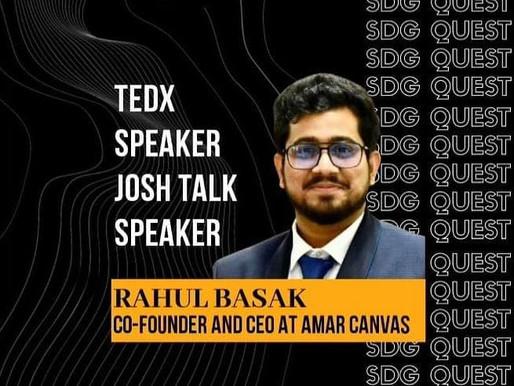 Rahul Basak Invited as a Guest Speaker at Enactus, BVCOE
