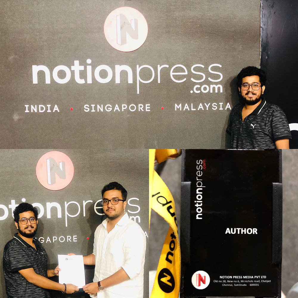 Rahul Basak first book signing with Notion press.