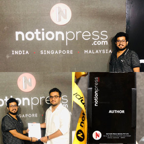 Rahul Basak Signing his first book contract with Notion Press