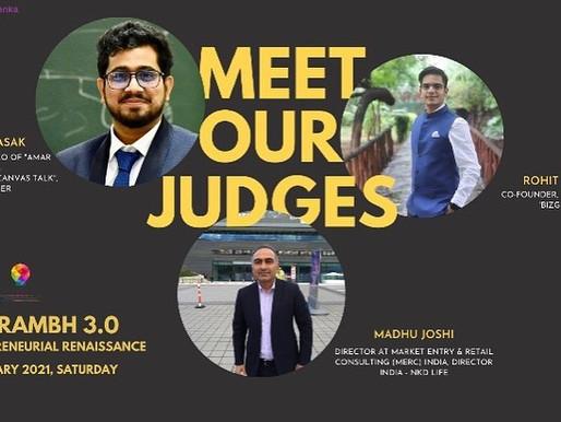 Judge at International Management Institute, Kolkata