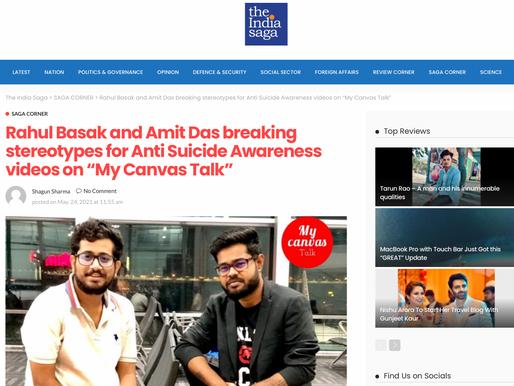 Rahul Basak featured on The Indian Saga