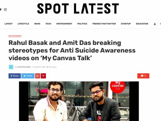 Rahul Basak featured on  Spot Latest