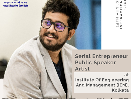 Guest Speaker at  Institute Of Engineering And Management (IEM), Kolkata