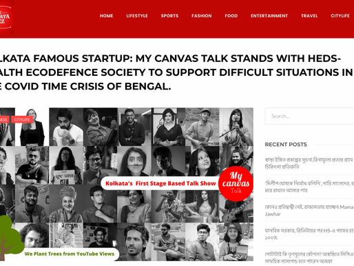 """My Canvas Talk"" featured on ""The Kolkata Buzz"""