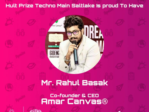 Rahul Basak Invited as a Judge for Hult Prize Techno India