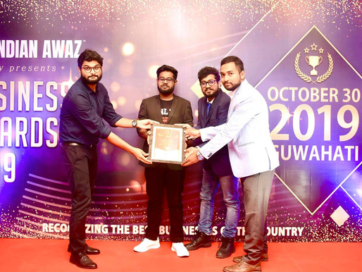 """Amar Canvas® won the title """"BEST SOCIAL IMPACT STARTUP"""" from all over INDIA by The Indian Awaz"""