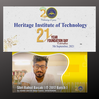 Featured on Heritage Institute of Technology's foundation day