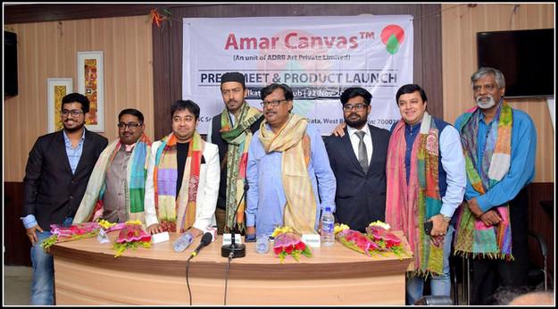 Rahul Basak at Amar Canvas Press Release