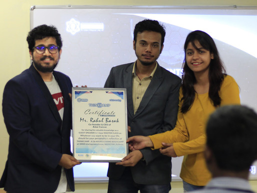 Rahul Basak as a GUEST SPEAKER in Think Camp organized by Think Again Lab