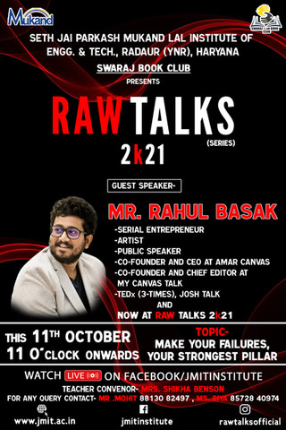 Guest speaker at RAW TALKS, Haryana