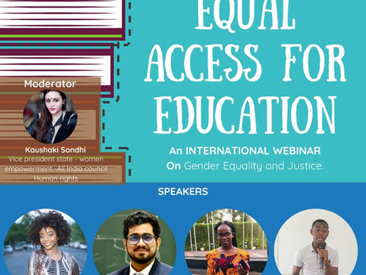 """Rahul Basak invited in an International Seminar on """"Equal Access for Education"""""""
