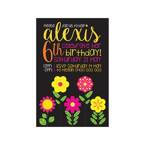 FLOWER GARDEN INVITATIONS