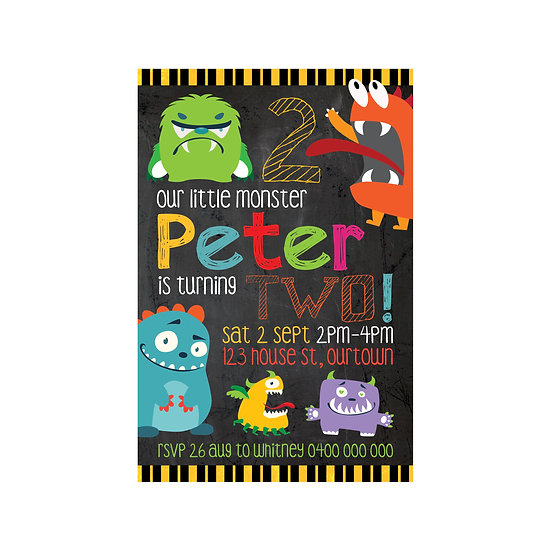 MONSTER MADNESS INVITATIONS