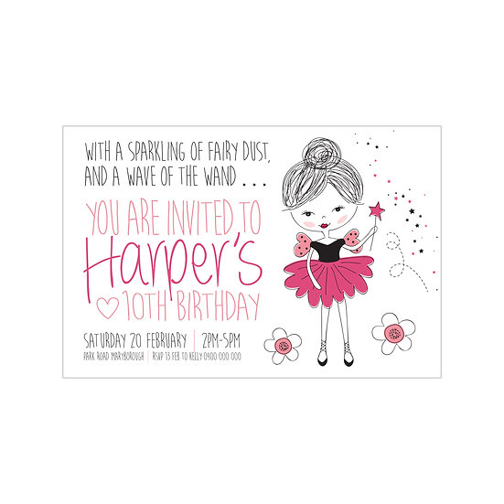 SPUNKY FAIRY INVITATIONS