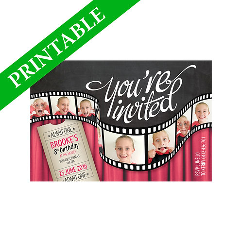 MOVIES INVITATION PRINTABLE
