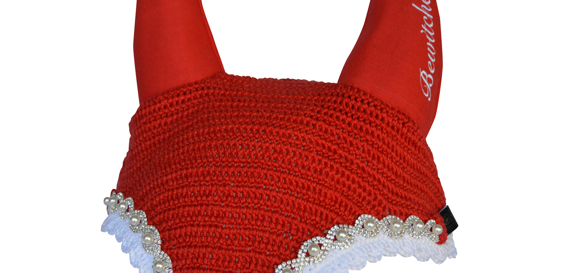 Pearls & Diamentes Red with Embroidery D
