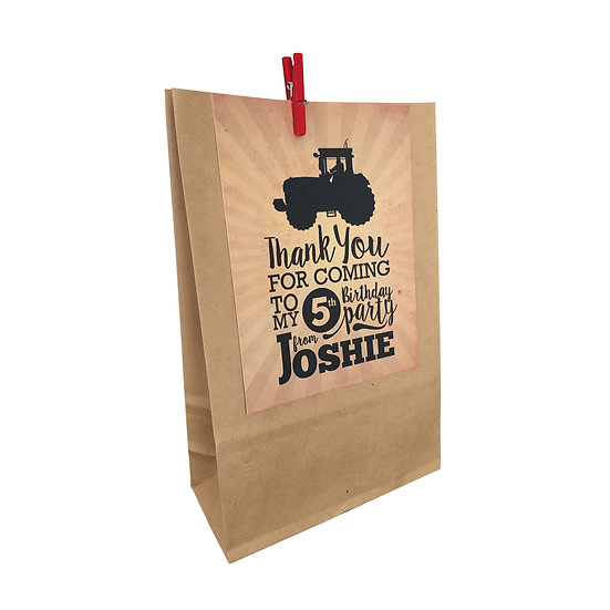 TRACTOR PARTY BAGS