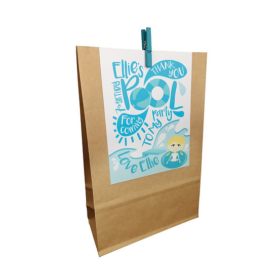 POOL PARTY LOLLY BAGS