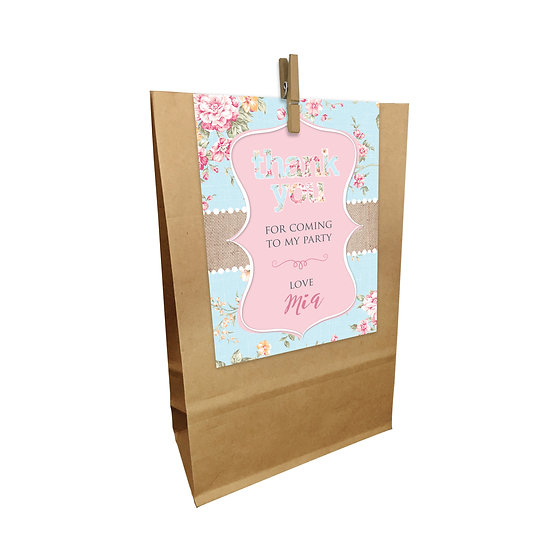 ROSE RUSTIC PARTY BAGS