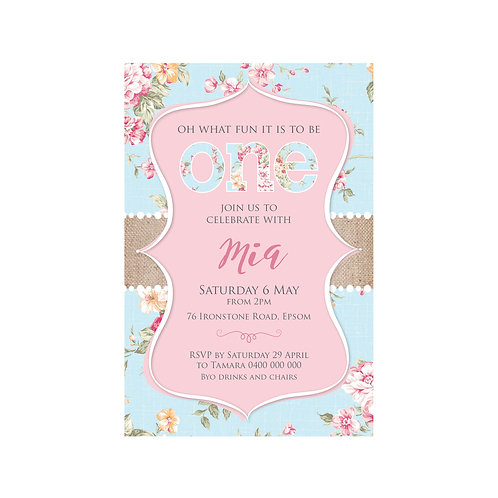 ROSE RUSTIC INVITATIONS