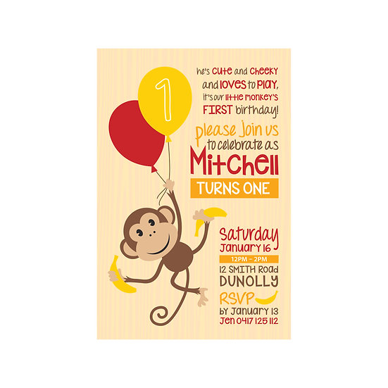 CHEEKY MONKEY INVITATIONS