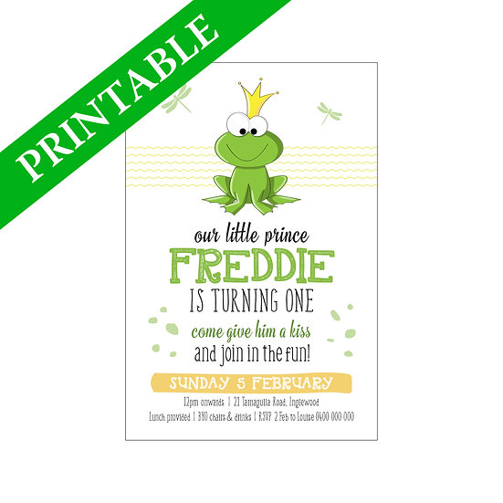 FROGGY INVITATION PRINTABLE
