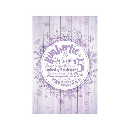 SNOWFLAKES INVITATIONS