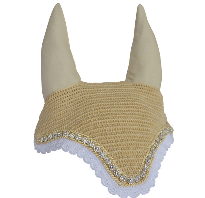 Cream 'English Tea' Cob bonnet with dais